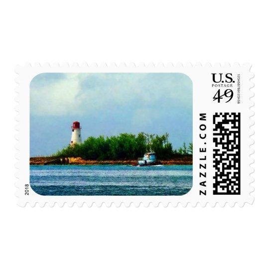 Lighthouse, Boat Nassau Bahamas Postage
