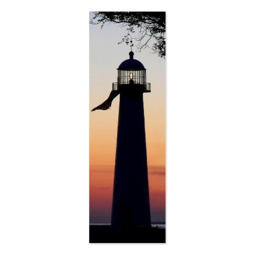 Lighthouse Bookmark Business Cards