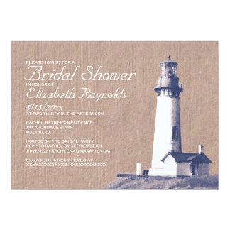 Lighthouse Bridal Shower Invitations Personalized Announcements
