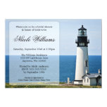 "Lighthouse Bridal Shower Invitations 5"" X 7"" Invitation Card"