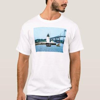 Lighthouse, Bridge and Boats, Newport, RI T-Shirt
