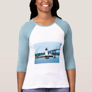 Lighthouse, Bridge and Boats, Newport, RI T-shirts