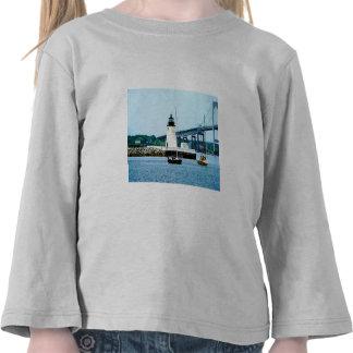Lighthouse, Bridge and Boats, Newport, RI Shirts