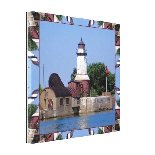 Lighthouse (Buffalo Southside) Wrapped Canvas Canvas Print