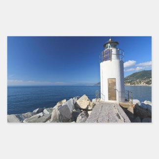 lighthouse, Camogli, Italy Rectangular Sticker