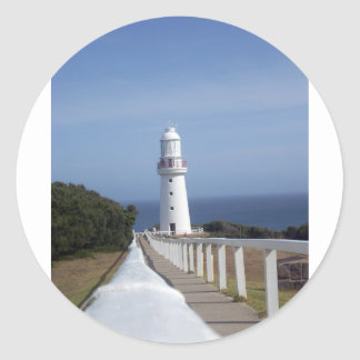 lighthouse cape otway australia classic round sticker