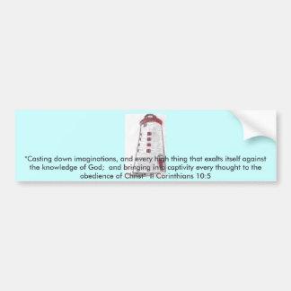 Lighthouse Car Bumper Sticker