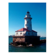 Lighthouse, Chicago's Navy Pier Postcard at Zazzle
