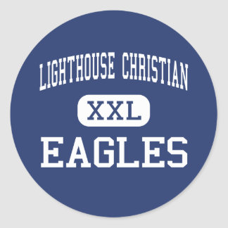 LIGHTHOUSE CHRISTIAN - Eagles - HIGH - Abbeville Round Stickers