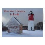 Lighthouse Christmas Card