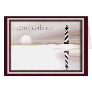 Lighthouse, Christmas Greeting Card