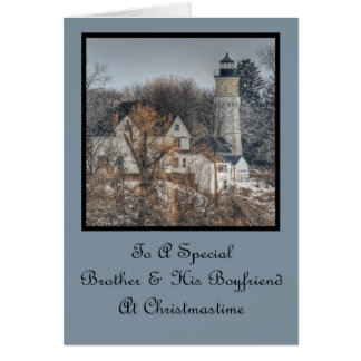 Lighthouse Christmas Wishes Brother & Boyfriend Card