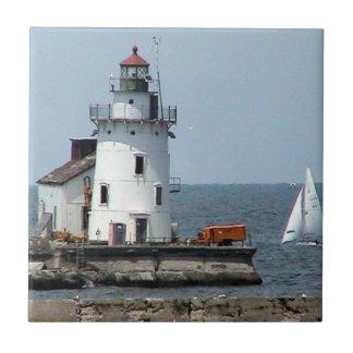 Lighthouse(Cleveland) Summer View Decorative Tile