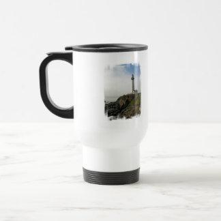 Lighthouse Cliff  Plastic Travel Mug