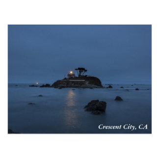 Lighthouse Crescent City, CA Postcard