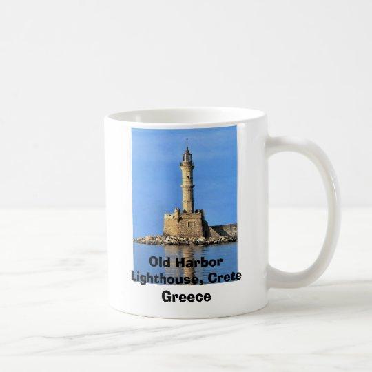 Lighthouse Crete Greece Old Harbor, Old Harbor ... Coffee Mug