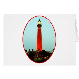 Lighthouse Daytona o Red The MUSEUM Zazzle Gifts Card