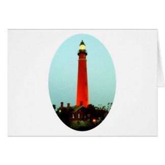 Lighthouse Daytona o The MUSEUM Zazzle Gifts Card