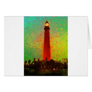 Lighthouse Daytona Sunrise The MUSEUM Zazzle Gifts Card
