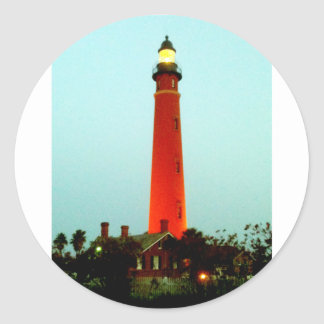Lighthouse Daytona The MUSEUM Zazzle Gifts Classic Round Sticker