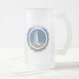 Lighthouse Design Frosted Mug