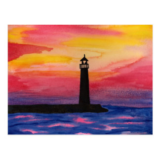 Lighthouse Door County WI Postcard