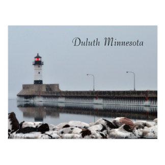 Lighthouse Duluth Minnesota Postcard