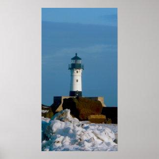 Lighthouse Duluth Minnesota Poster