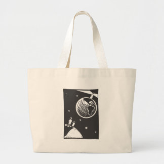 Lighthouse Earth Large Tote Bag