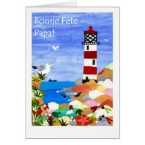 Lighthouse Father's Day Card - French Greeting