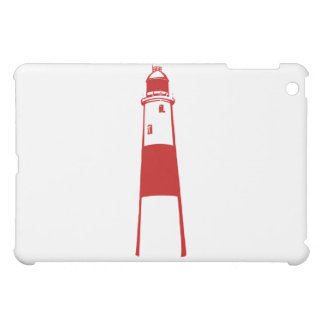 lighthouse flat graphic red white.png case for the iPad mini