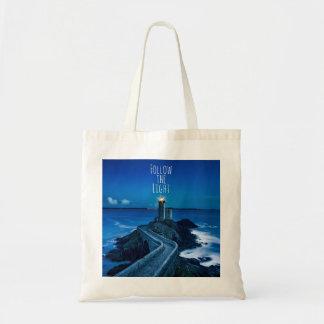 Lighthouse Follow the Light Tote Bag