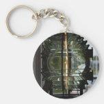 Lighthouse Fresnel Lens Basic Round Button Keychain
