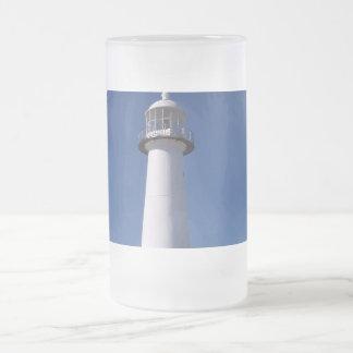 Lighthouse Frosted Glass Beer Mug