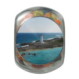 Lighthouse Glass Jars