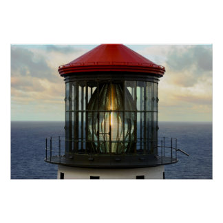 Lighthouse Glass Poster