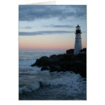 Lighthouse, Glorious Sunset! Greeting Card