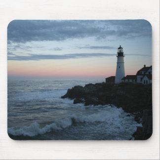 Lighthouse, Glorious Sunset! Mousepads