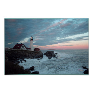 Lighthouse, Glorious Sunset, poster