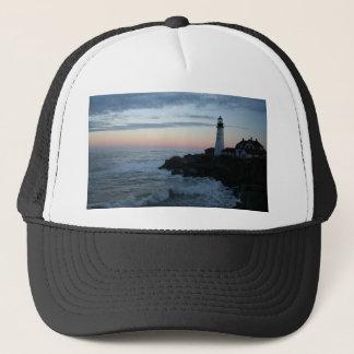 Lighthouse, Glorious Sunset! Trucker Hat