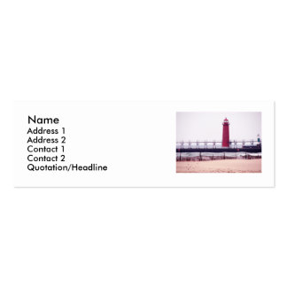 Lighthouse - Grand Haven, MI Double-Sided Mini Business Cards (Pack Of 20)
