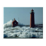 Lighthouse Grand Haven Postcard