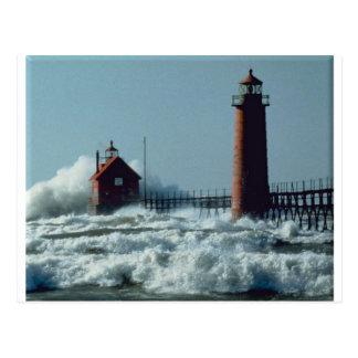 Lighthouse Grand Haven Postcard