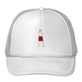 lighthouse grey white red png mesh hat