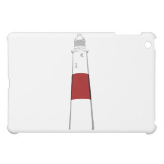 lighthouse grey white red.png iPad mini cover