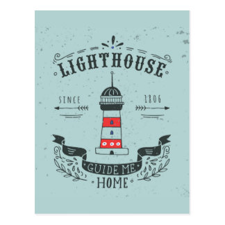Lighthouse Guide Me Home Poster Postcard