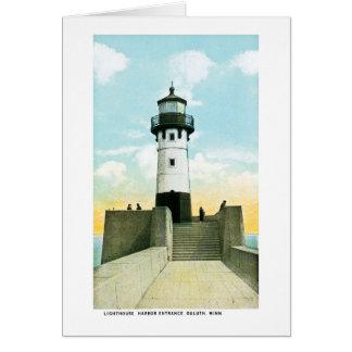 Lighthouse, Harbor Entrance, Duluth, Minnesota Greeting Card