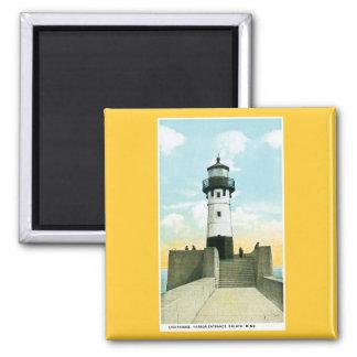 Lighthouse, Harbor Entrance, Duluth, Minnesota Fridge Magnet
