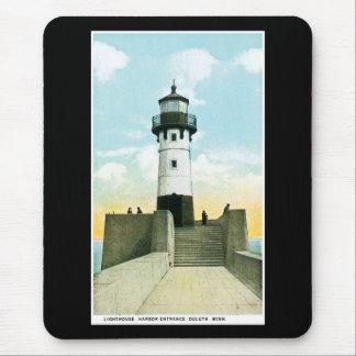 Lighthouse, Harbor Entrance, Duluth, Minnesota Mouse Pad