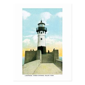 Lighthouse, Harbor Entrance, Duluth, Minnesota Postcard